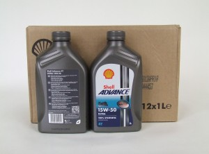12 x Shell Advance 4T Ultra 15W-50 / 1 Liter