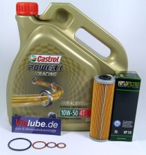 KTM 950 990 LC8 Service Wartung Ölwechsel Castrol Power1 Racing 10W-50 4T