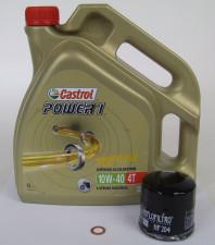 Honda Service Wartungs Kit Ölwechsel Castrol Power1 4T 10W-40 4T HF 204