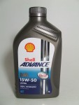 Shell Advance 4T Ultra 15W-50 / 1 Liter