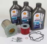 Suzuki GS 500 E Service Kit Ölwechsel Ölfilter Shell Advance Ultra 10W40