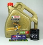 Honda Service Kit Wartung Ölwechsel Castrol Power1 Racing 10W-40 4T HF303